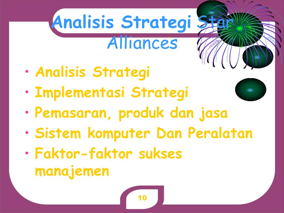 Analisis Strategi Star Alliances