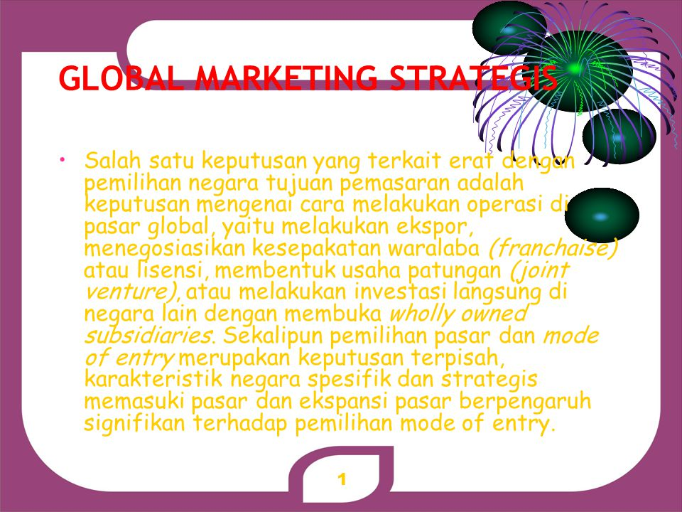 GLOBAL MARKETING STRATEGIS