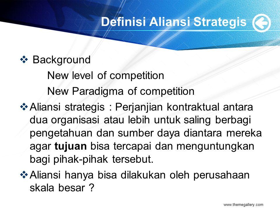 Definisi Aliansi Strategis
