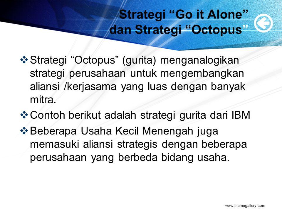Strategi Go it Alone dan Strategi Octopus