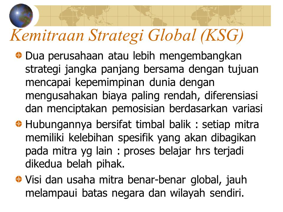 Kemitraan Strategi Global (KSG)