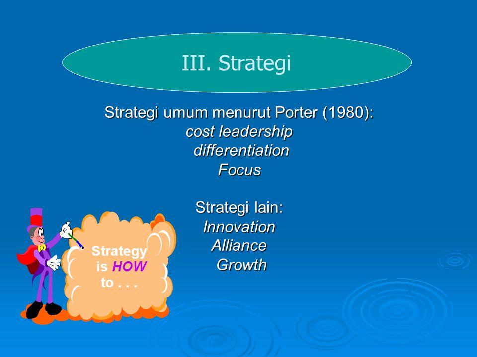 Strategi umum menurut Porter (1980):