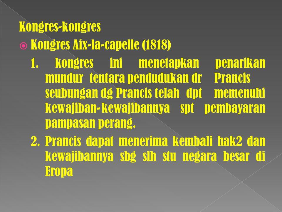 Kongres-kongres Kongres Aix-la-capelle (1818)