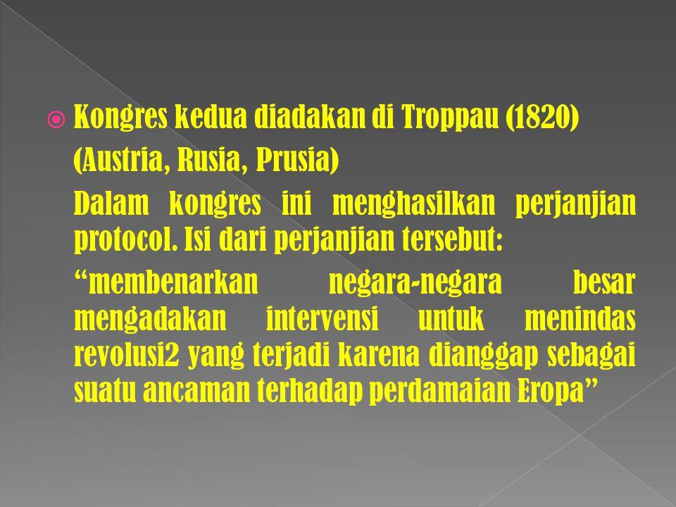 Kongres kedua diadakan di Troppau (1820)