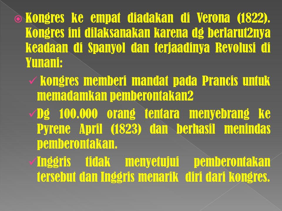 Kongres ke empat diadakan di Verona (1822)