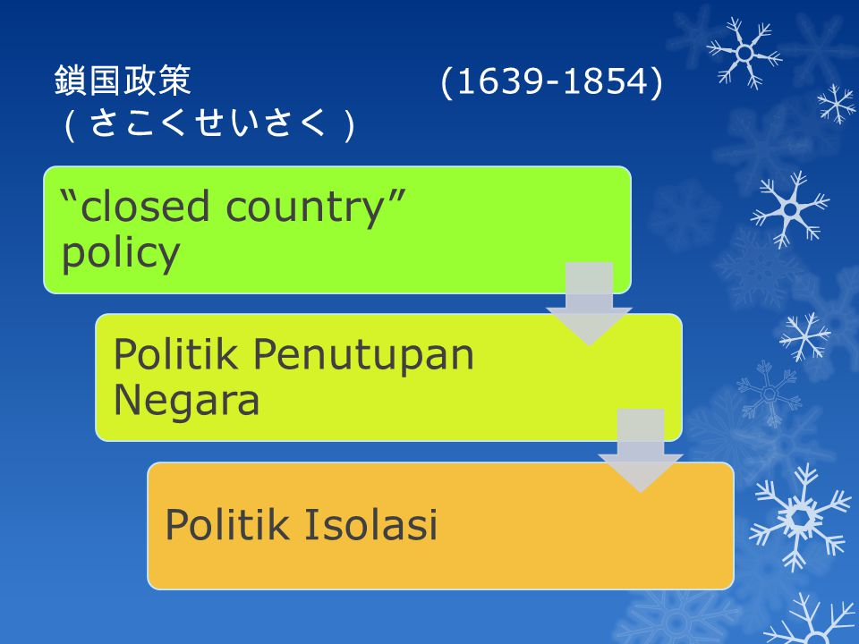 closed country policy