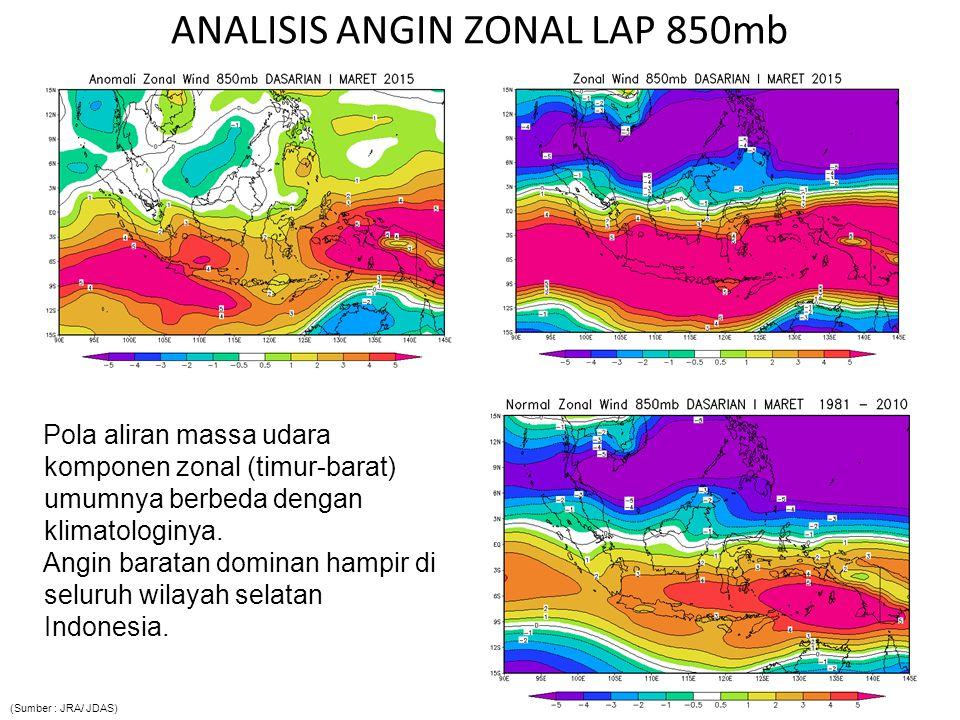 ANALISIS ANGIN ZONAL LAP 850mb