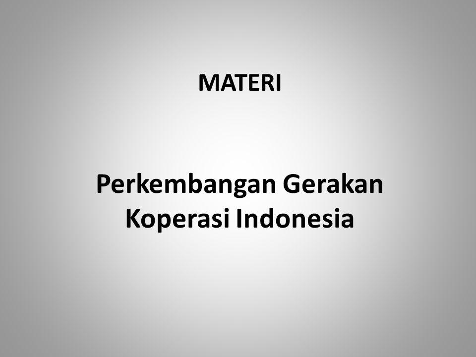 Perkembangan Gerakan Koperasi Indonesia