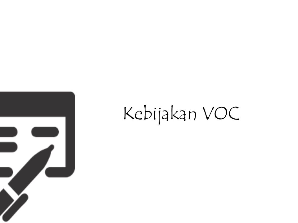 Kebijakan VOC