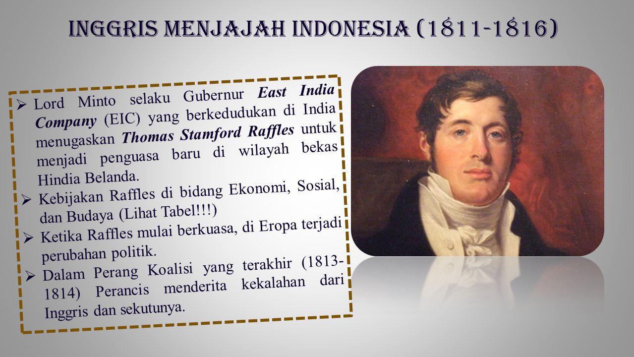 Inggris menjajah Indonesia (1811-1816)