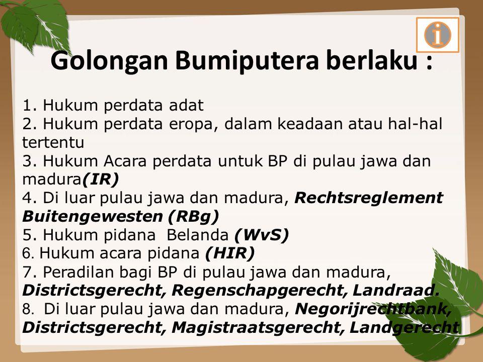 Golongan Bumiputera berlaku :