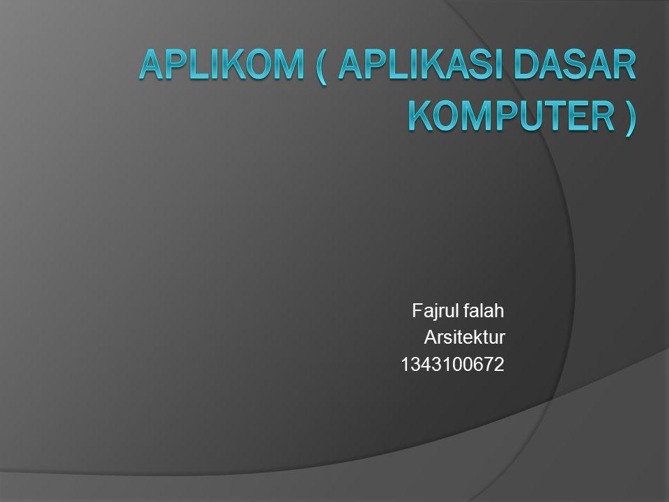 Aplikom ( aplikasi dasar komputer )