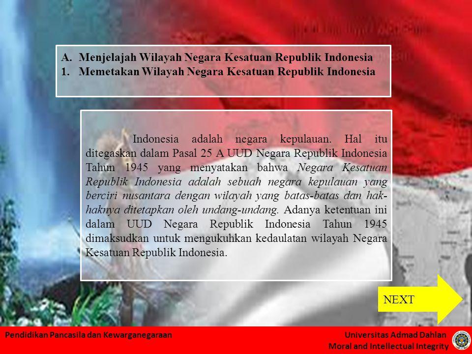 Menjelajah Wilayah Negara Kesatuan Republik Indonesia
