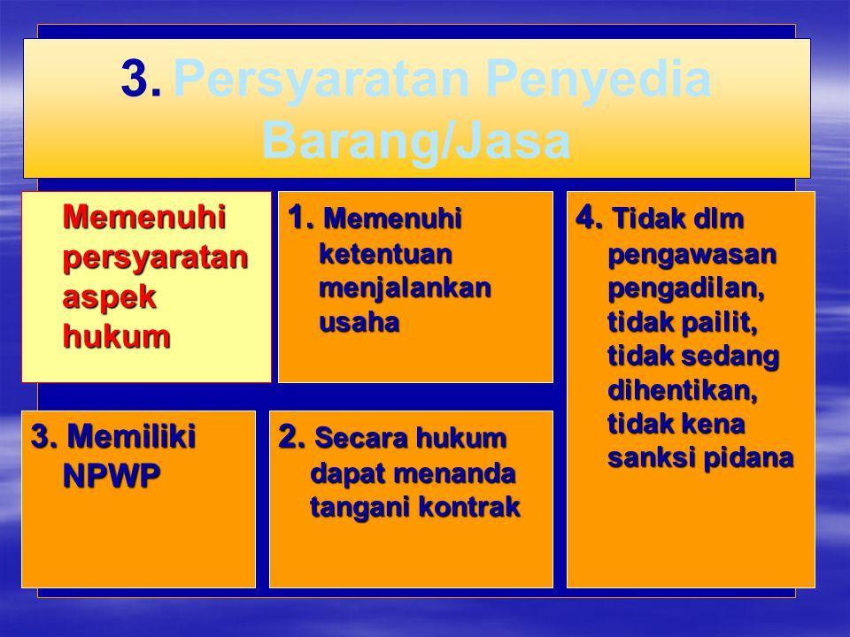 3. Persyaratan Penyedia Barang/Jasa