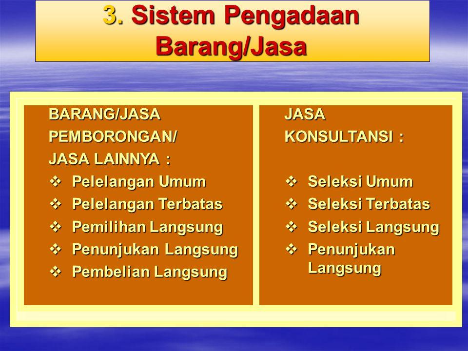 3. Sistem Pengadaan Barang/Jasa