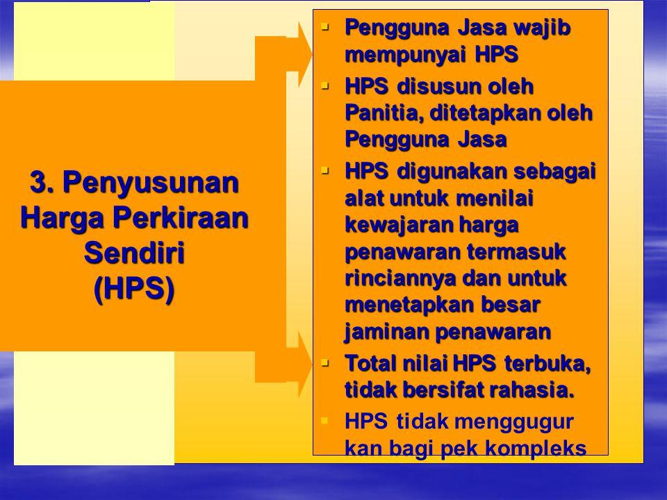 3. Penyusunan Harga Perkiraan Sendiri (HPS)