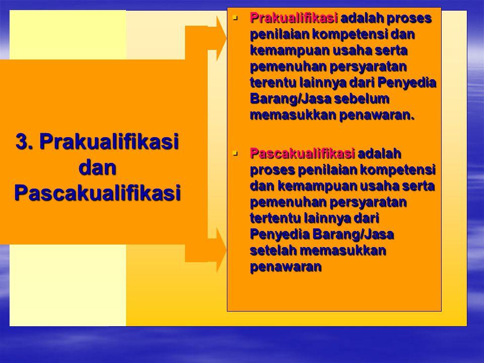 3. Prakualifikasi dan Pascakualifikasi