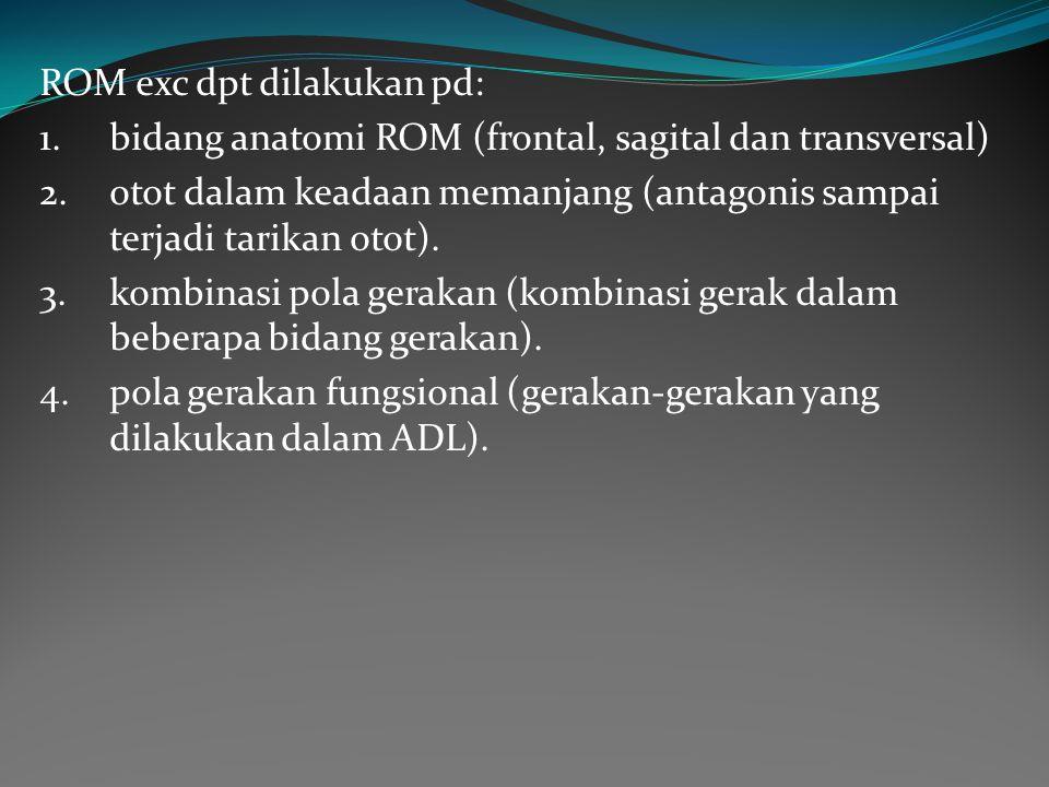 ROM exc dpt dilakukan pd: 1