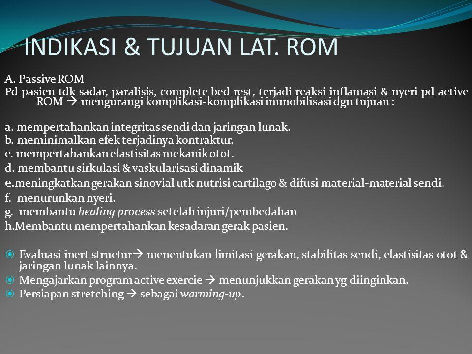 INDIKASI & TUJUAN LAT. ROM