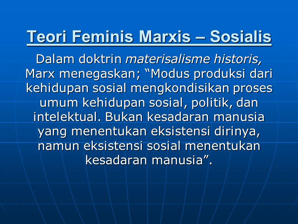Teori Feminis Marxis – Sosialis