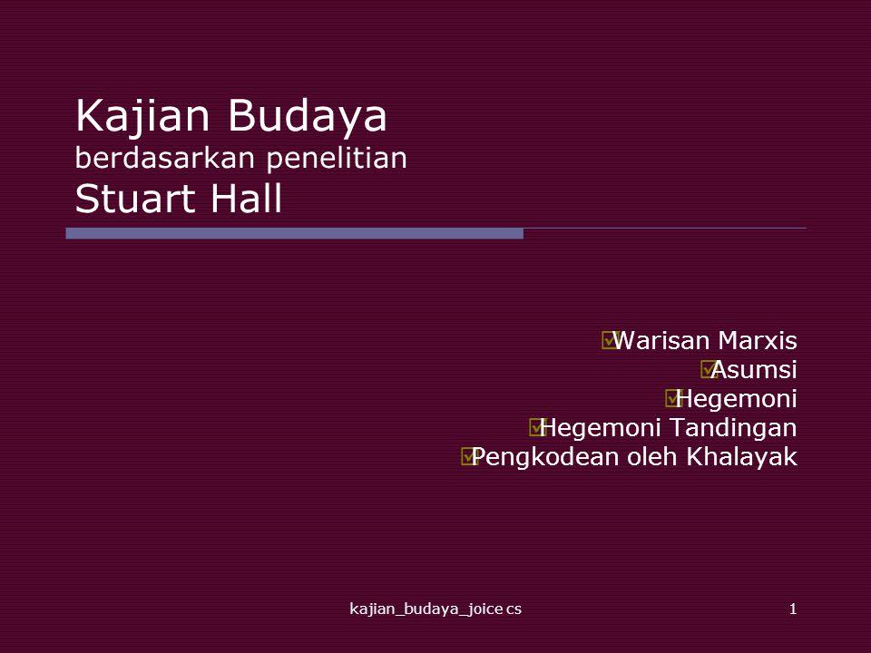Kajian Budaya berdasarkan penelitian Stuart Hall