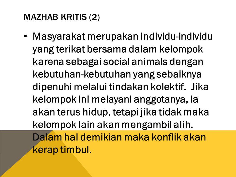 MAZHAB KRITIS (2)