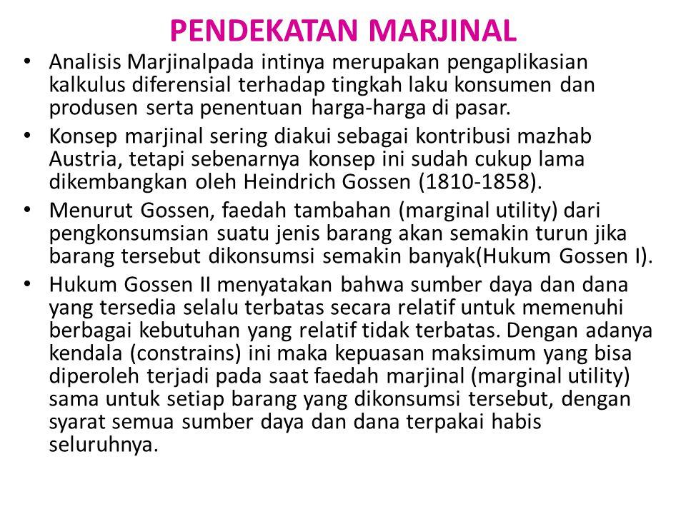 PENDEKATAN MARJINAL