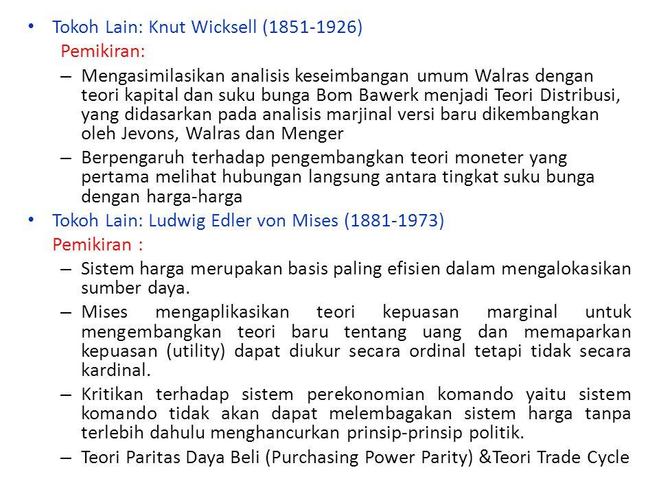 Tokoh Lain: Knut Wicksell (1851-1926)