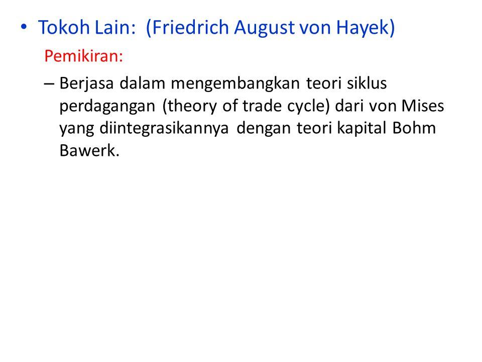 Tokoh Lain: (Friedrich August von Hayek)