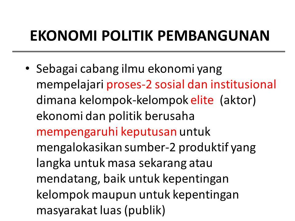 EKONOMI POLITIK PEMBANGUNAN