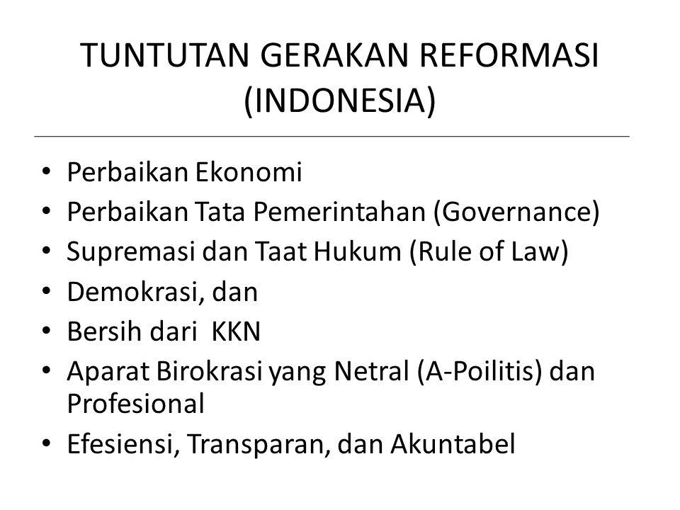 TUNTUTAN GERAKAN REFORMASI (INDONESIA)