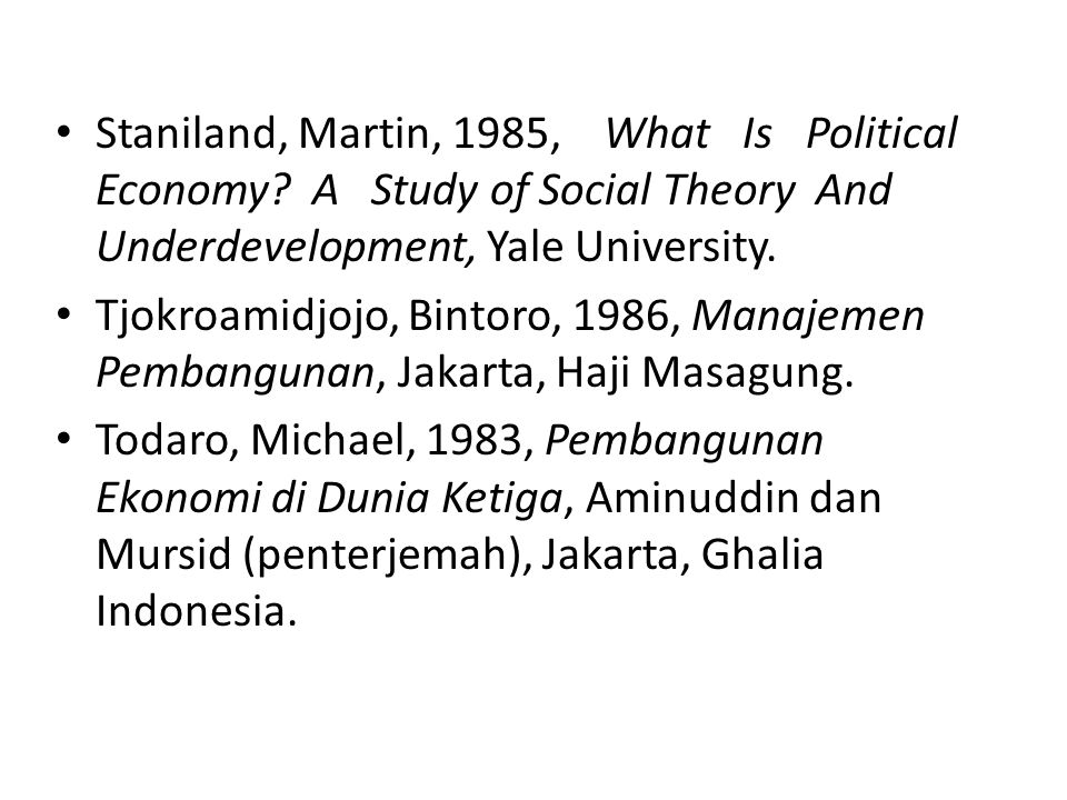 Staniland, Martin, 1985, What Is Political Economy