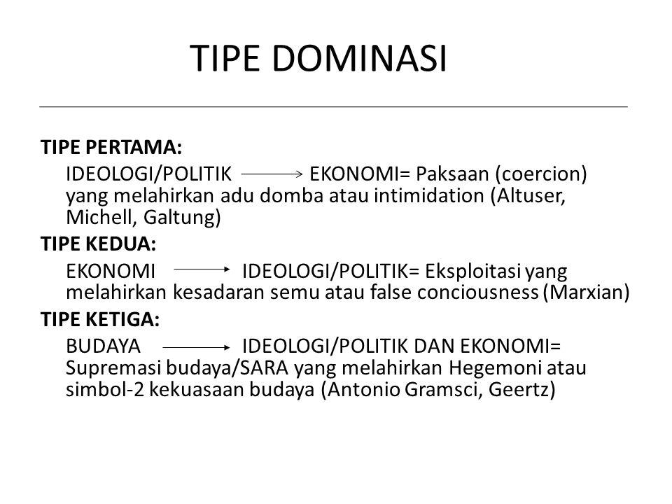 TIPE DOMINASI TIPE PERTAMA: