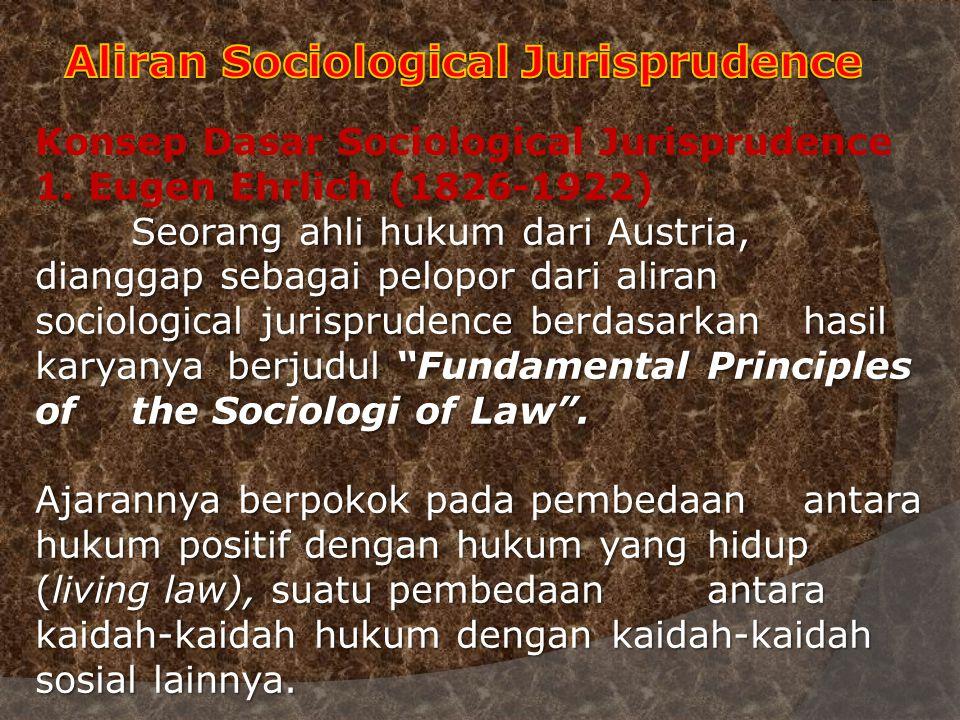 Aliran Sociological Jurisprudence