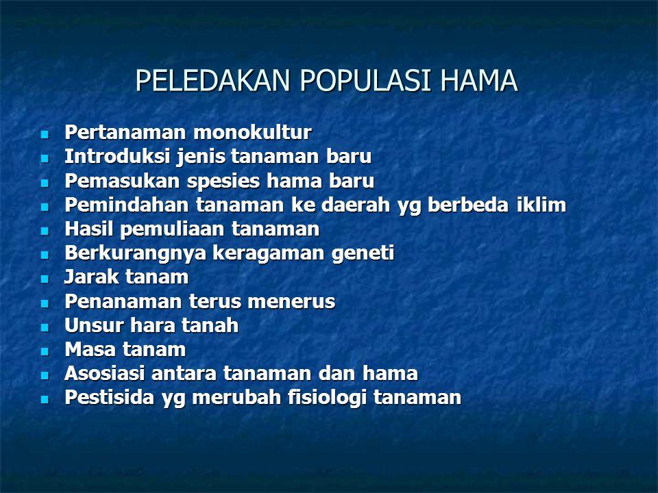 PELEDAKAN POPULASI HAMA