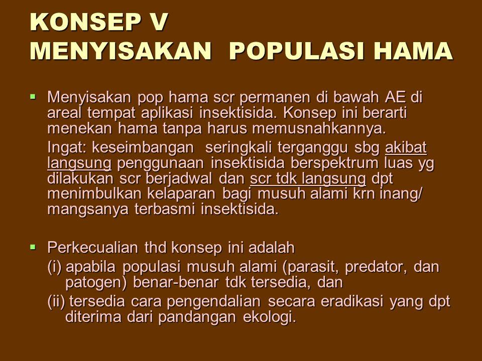 KONSEP V MENYISAKAN POPULASI HAMA