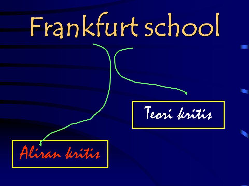 Frankfurt school Teori kritis Aliran kritis