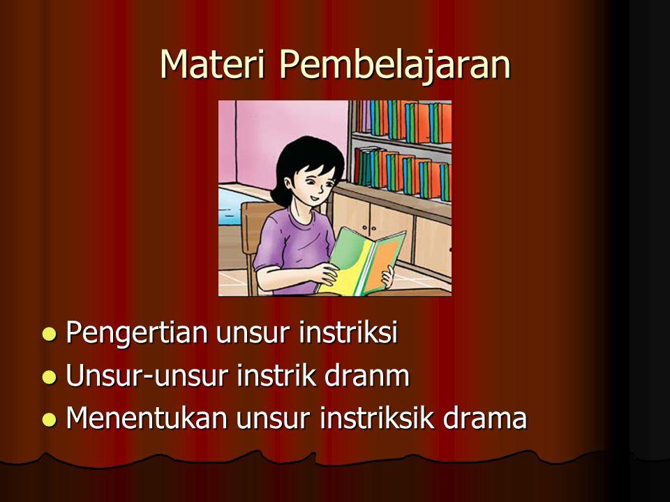 Materi Pembelajaran Pengertian unsur instriksi