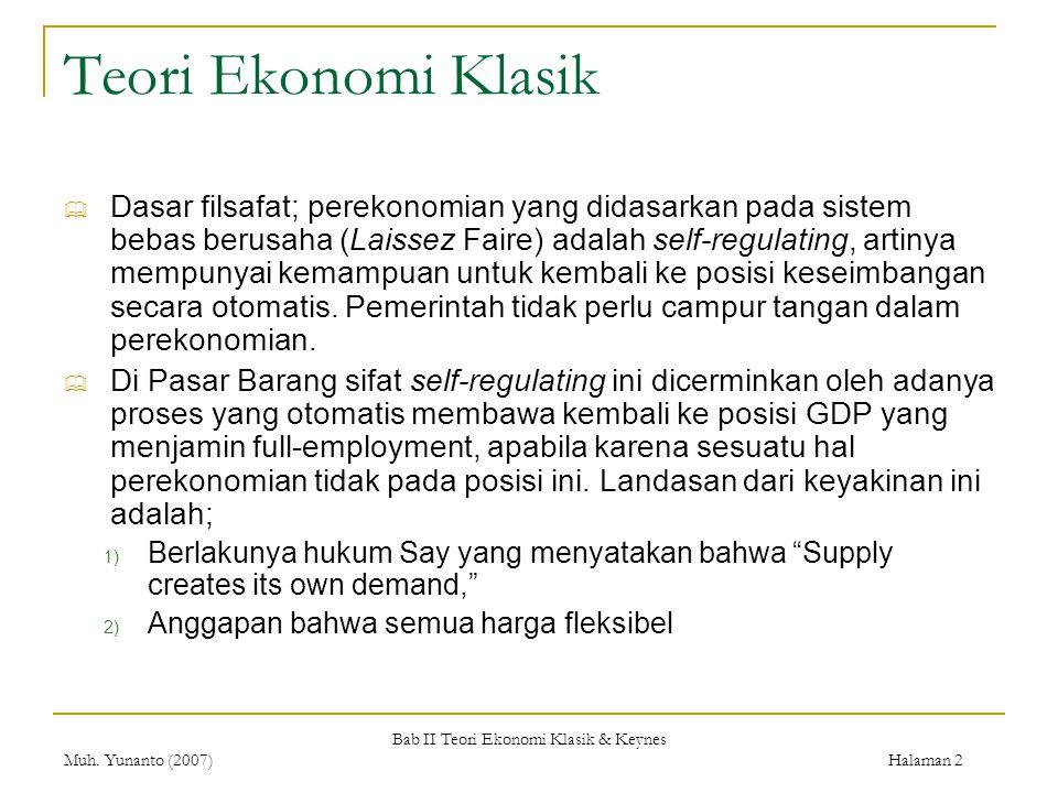 Bab II Teori Ekonomi Klasik & Keynes