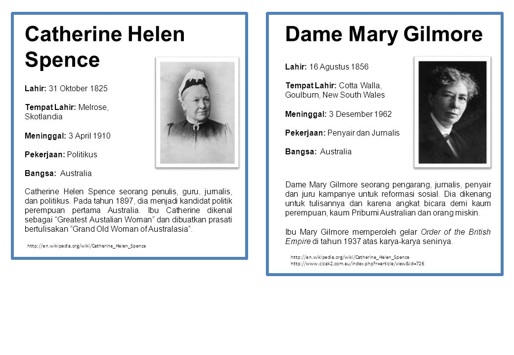 Catherine Helen Spence Dame Mary Gilmore