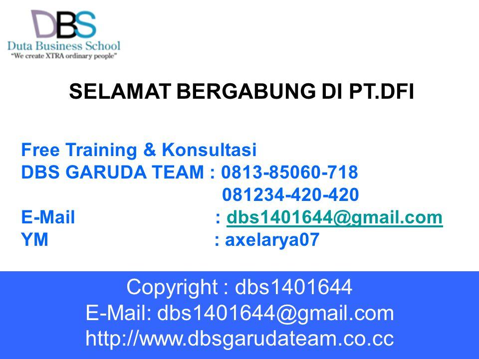 SELAMAT BERGABUNG DI PT.DFI