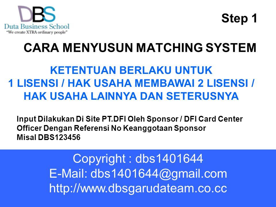 CARA MENYUSUN MATCHING SYSTEM
