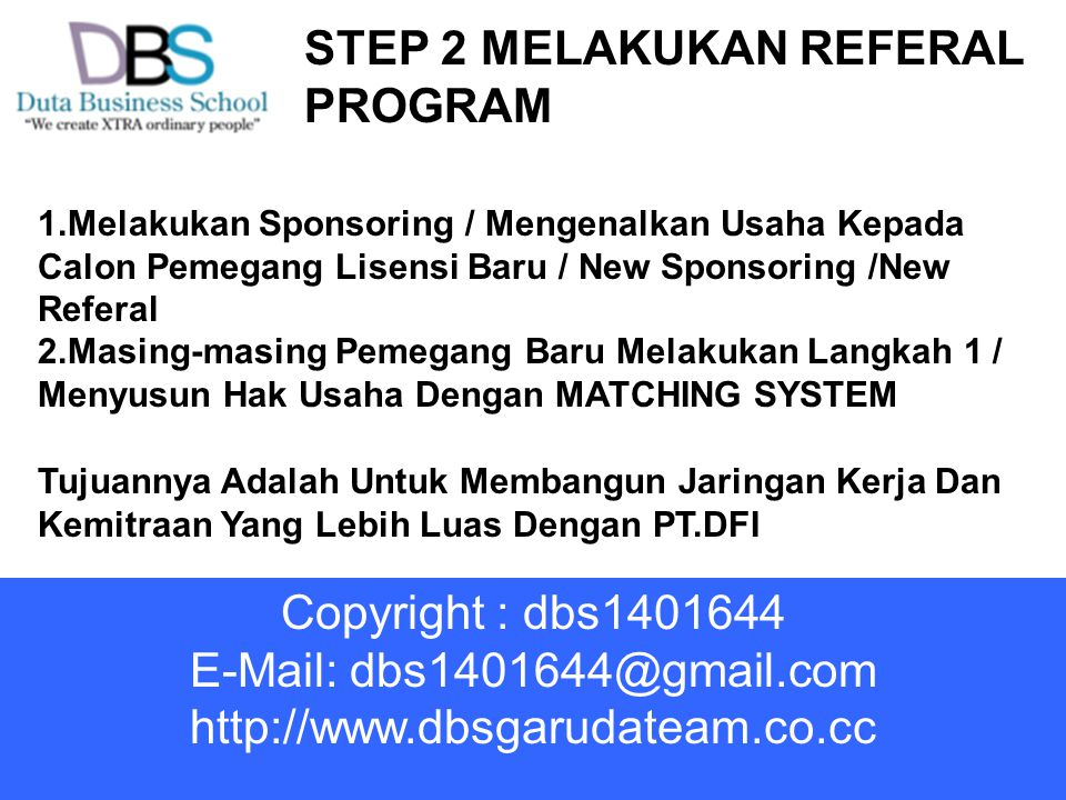 STEP 2 MELAKUKAN REFERAL PROGRAM