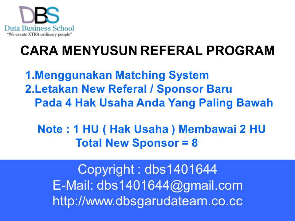 CARA MENYUSUN REFERAL PROGRAM