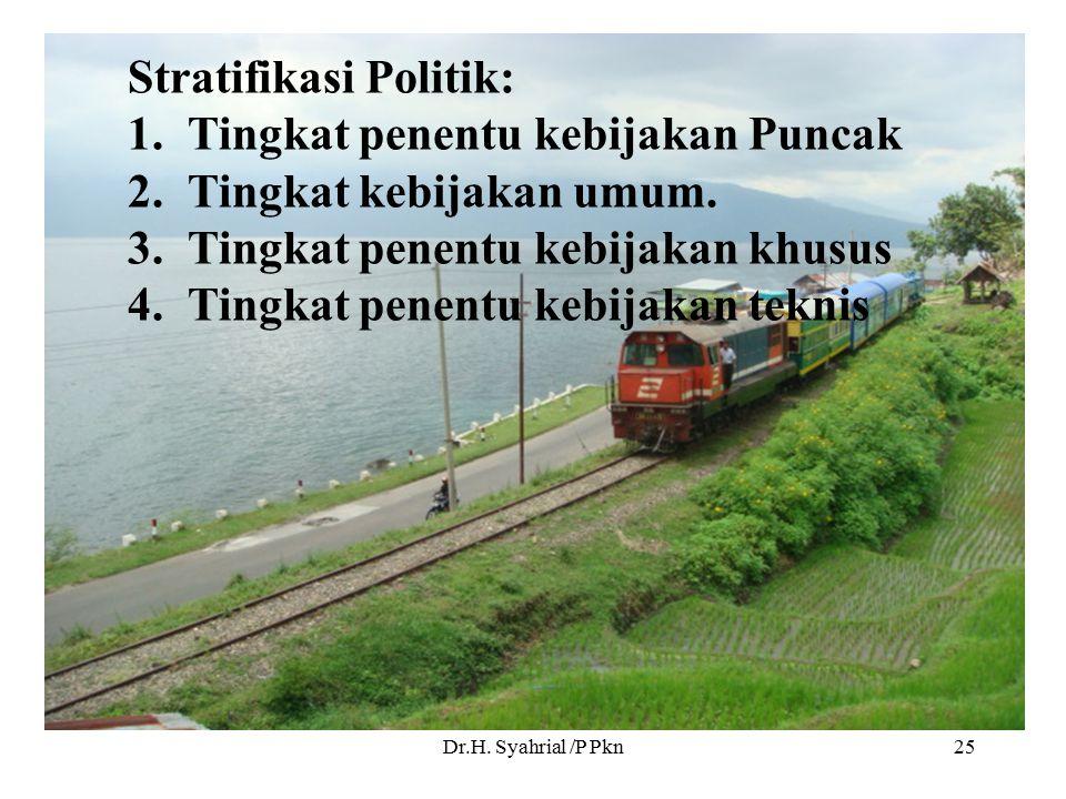Stratifikasi Politik: Tingkat penentu kebijakan Puncak
