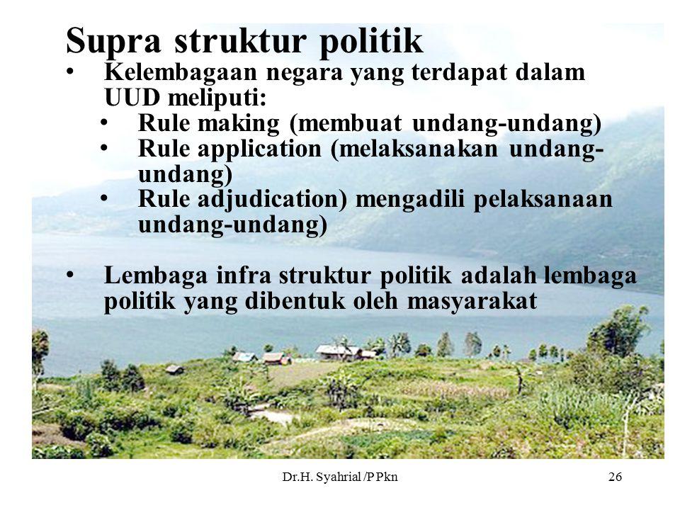 Supra struktur politik