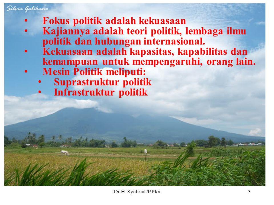Fokus politik adalah kekuasaan