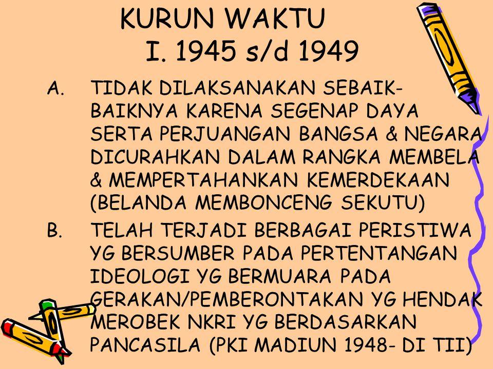 KURUN WAKTU I. 1945 s/d 1949