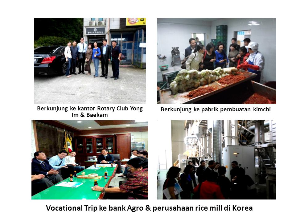 Vocational Trip ke bank Agro & perusahaan rice mill di Korea