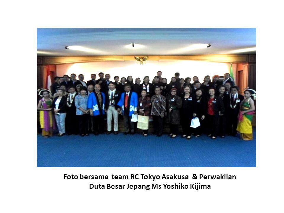 Foto bersama team RC Tokyo Asakusa & Perwakilan